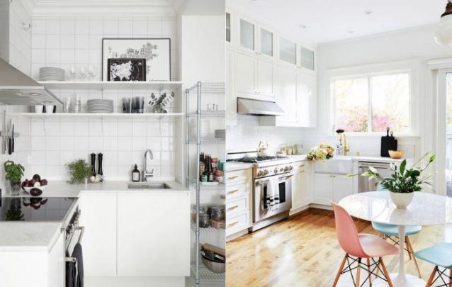 Já em relação ao arranjo em L, a principal vantagem é a sua flexibilidade, pois este modelo de cozinha cai muito bem em ambientes grandes ou pequenos.