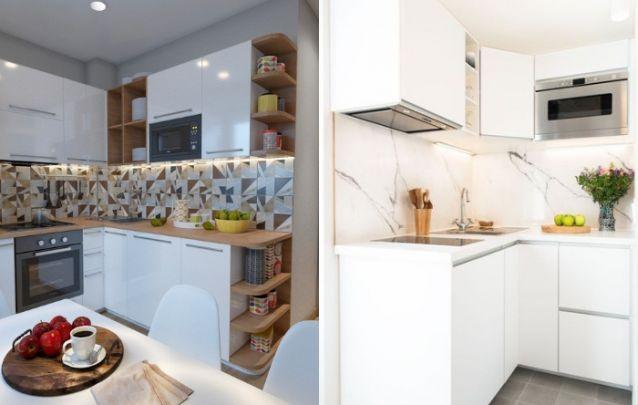 O branco é uma ótima sugestão para cozinhas planejadas menores