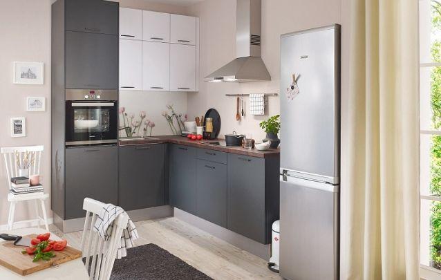 Branco e cinza, um duo de cores moderno para a sua cozinha