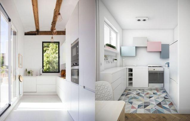Você pode apostar em uma cozinha totalmente branca, ou trazer leves toques de cor para não exagerar