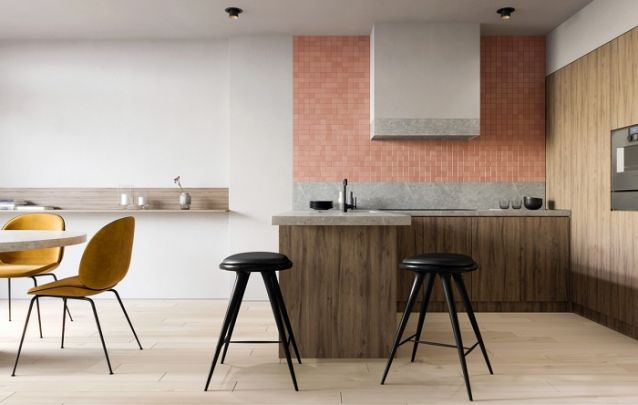 Para delimitar um cômodo em ambientes integrados, uma dica é apostar em pisos diferentes