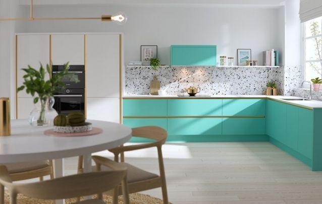 Cozinha contemporânea com design original