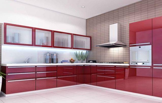 Cozinha planejada vermelha para se inspirar