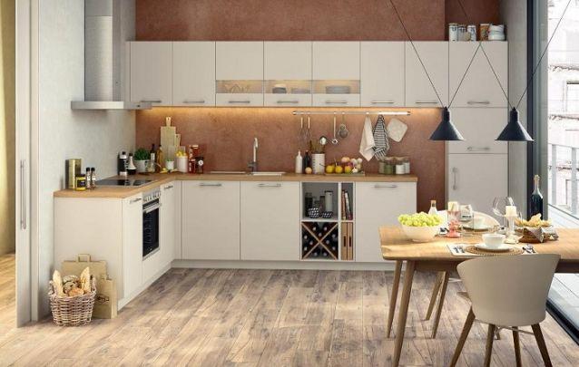 Design tradicional para uma cozinha em L
