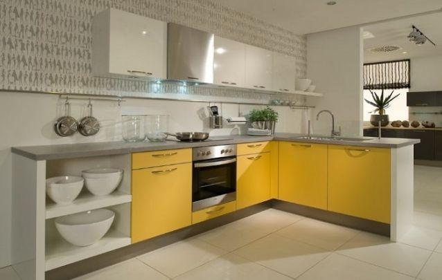 Amarelo e cinza, uma combinação atual para fazer parte da sua cozinha