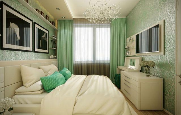 Um truque para fazer o quarto parecer maior, é dividi-lo mentalmente em três partes