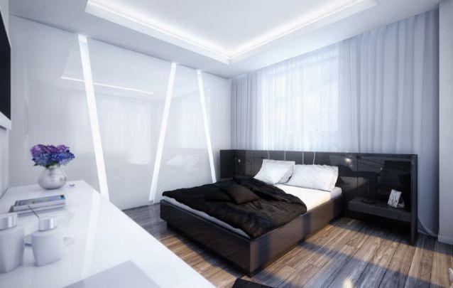 Cortinas altas e claras ajudam a disfarçar a falta de espaço