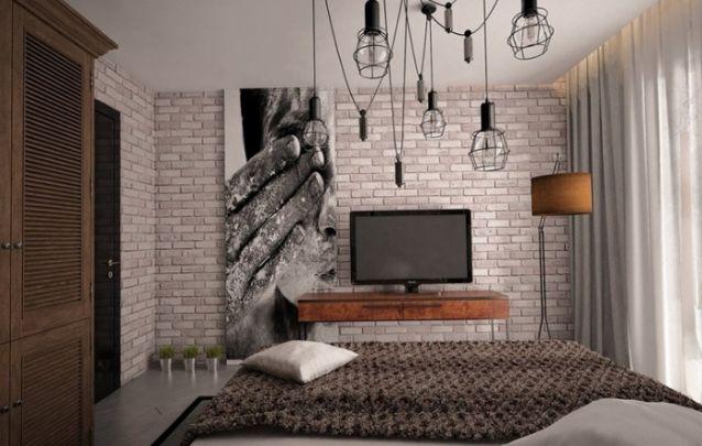 Decoração rústica para um quarto feminino pequeno