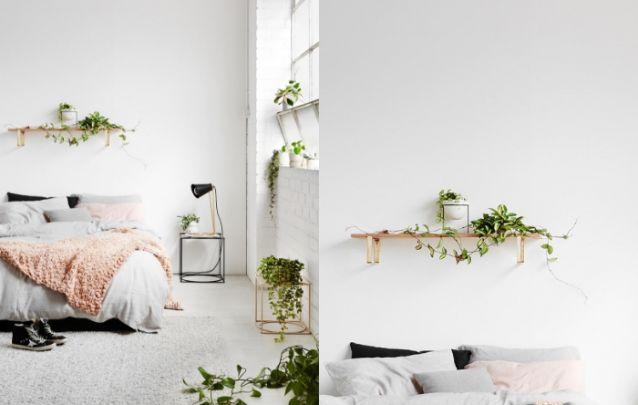 Plantas são queridinhas para compor a decoração de um pequeno quarto