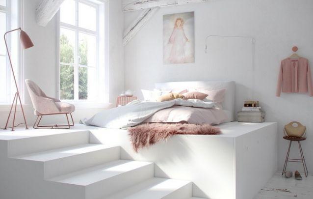 Uma linda inspiração para quem busca opções de decoração quarto feminino moderno