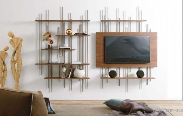 Se é originalidade e modernidade que você procura, este painel de tv é um bom exemplar! Um projeto distinto, que mais parece uma obra de arte do que um simples móvel de apoio.