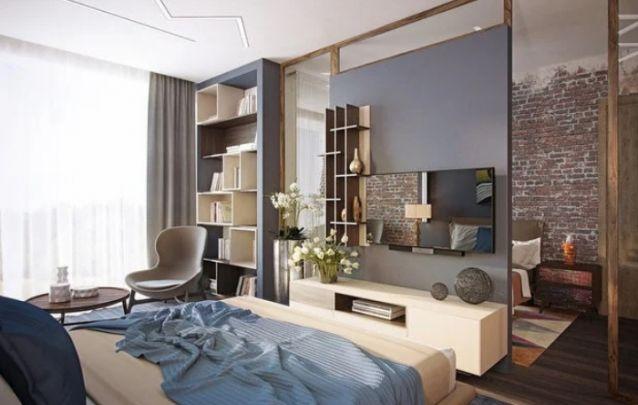 Os espelhos nas laterais e na parte superior do painel, servem como um truque para fazer com que o quarto pareça maior do que realmente é. Alia também um excelente design ao cômodo.