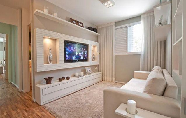 Decoração monocromática é tendência no design de interiores, e a cor branca é uma ótima escolha para ambientes com metragens reduzidas. Uma excelente cor para não trazer sensação de sala cheia.