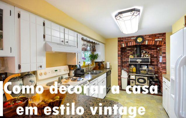 Como decorar a casa toda em estilo vintage