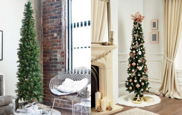 Árvores de Natal para pequenos ambientes