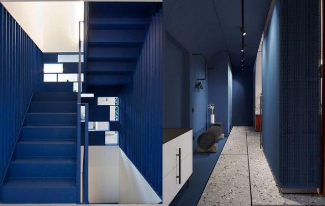 Classic Blue nos corredores