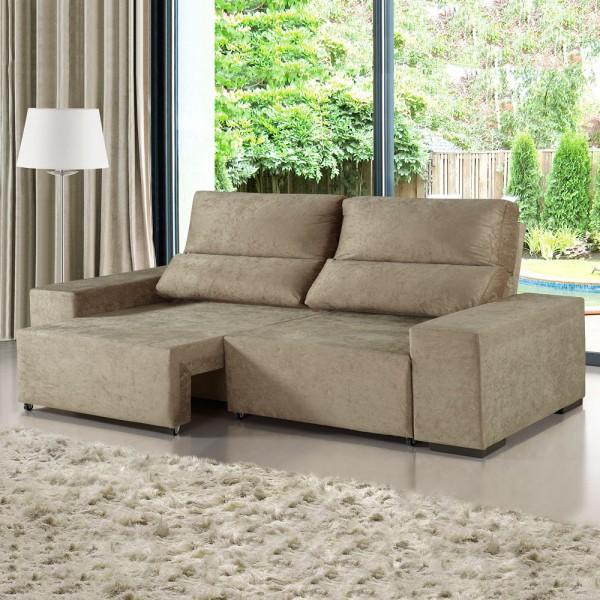 Terrific Sofa 3 Lugares Retratil E Reclinavel Relax Malta Viero Moveis Machost Co Dining Chair Design Ideas Machostcouk