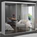 Guarda-Roupa Casal 3 Portas de Espelho 100% Mdf 1985e3 Branco - Foscarini