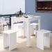 Mesa de Madeira Ms700 Branco - Art In Móveis